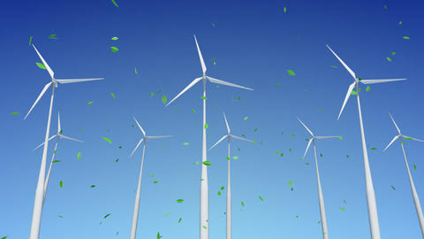 Wind Turbine H1WG HD Stock Video Footage