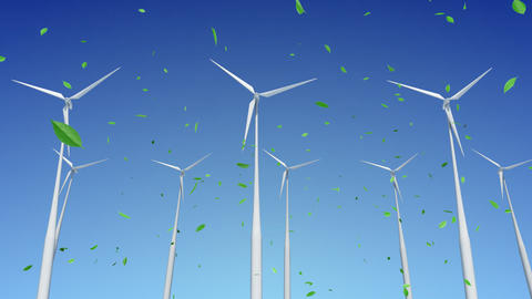 Wind Turbine H1WG HD Animation