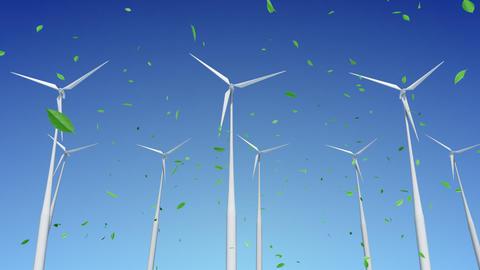 Wind Turbine H1WG HD Animation
