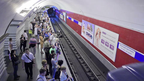 Nevskiy prospekt, arrival, St. Petersburg, Russia Stock Video Footage