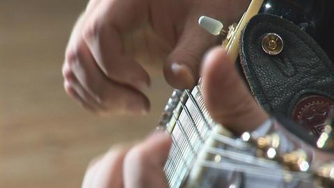 guitare 14 Stock Video Footage
