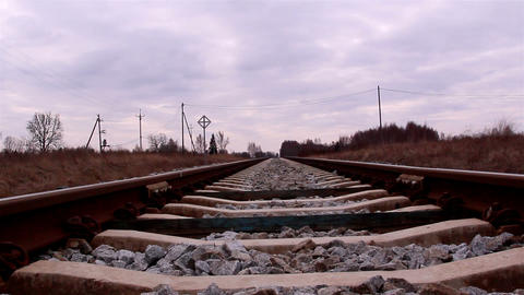 The view of the railway of the train Footage