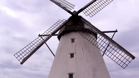 The Huge Old Windmill stock footage