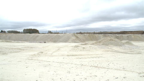 The view of the limestone industry Footage