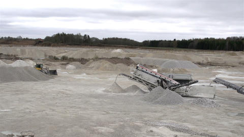 Some heavy machineries in a mining industry Footage