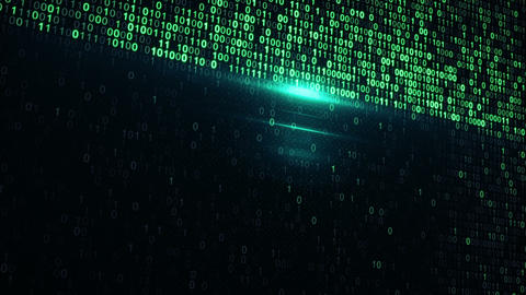 digital binary data scan loop background Animation