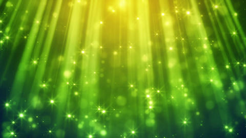 festive glitter particles in green light rays loop Animation