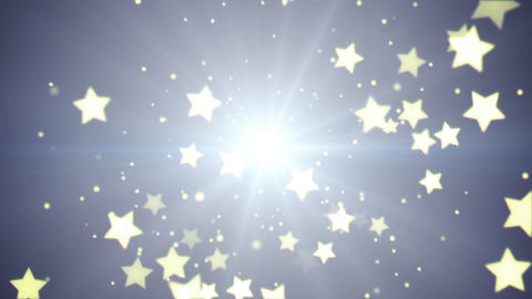 flying stars loopable festive background Animation