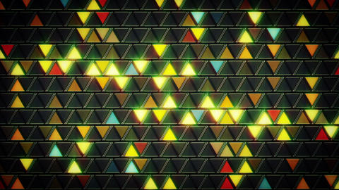 abstract geometric background shining triangles lo Animation