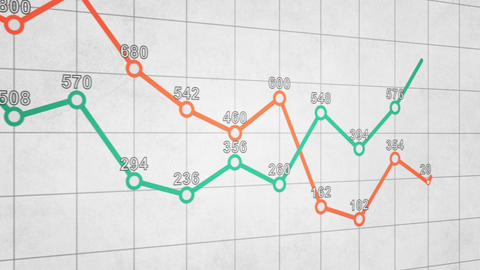 business graph chart seamless loop animation Animation