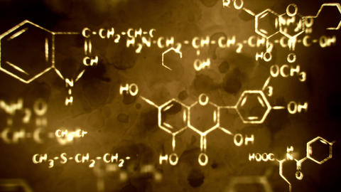 flying chemical formulas loopable grunge backgroun Animation