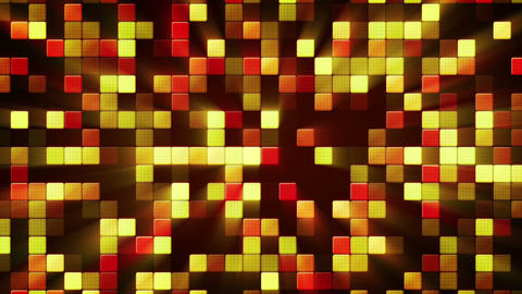 orange shiny mosaic tiles loopable background Animation