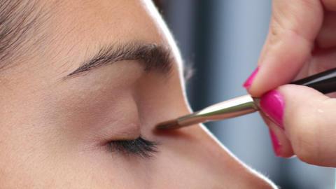 Face Makeup Anti Glare Brush Footage