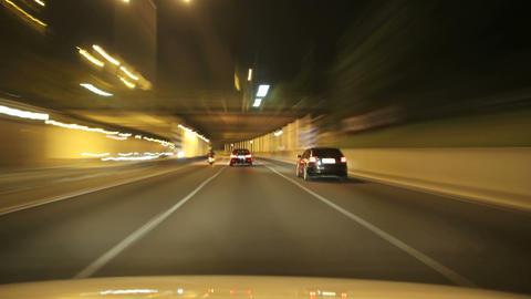 Street Rage Barcelona Night City Drive Time Lapse Footage