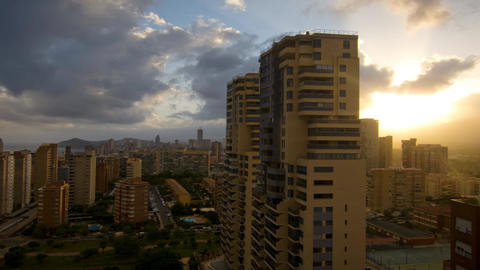 City Sunset Time Lapse stock footage