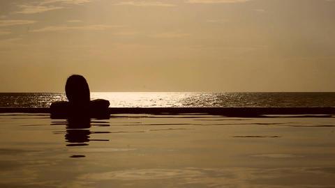 Sunset Pool & Sea Footage
