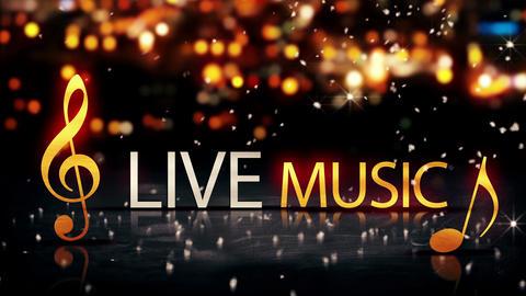Live Music Gold Silver City Bokeh Star Shine Yello Animation