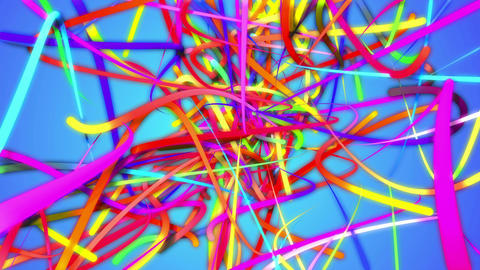 Rainbow Stripes Strands Line Loop Animation Blue B Animation
