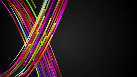 X Rainbow Line Loop Animation Dark Background - 4K Animation