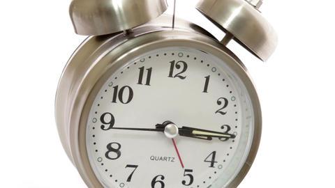 Clock Closeup Angle Timelapse stock footage