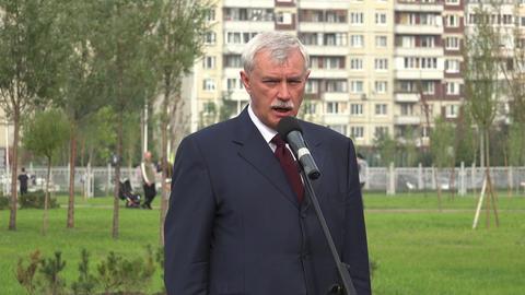 Georgy Poltavchenko. Governor Of St. Petersburg. 4 stock footage