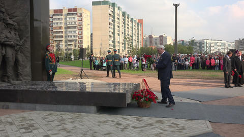 St. Petersburg Governor Poltavchenko at the openin Footage