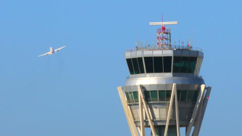 Airport Radar Control Tower Footage