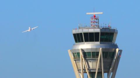 Airport Radar Control Tower Footage