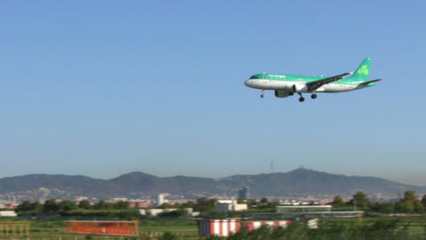 Air Lingus Plane stock footage