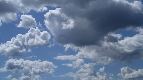 Midday clouds time-lapse 2 Stock Video Footage