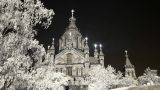Infrared Finland: Uspenski Cathedral In Helsinki 1 stock footage
