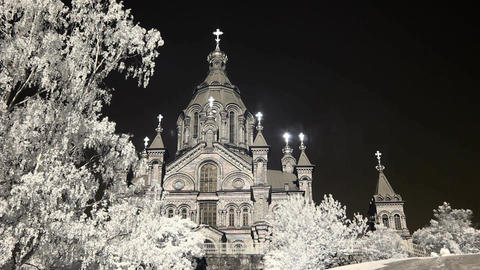 Infrared Finland: Uspenski Cathedral in Helsinki 1 Footage