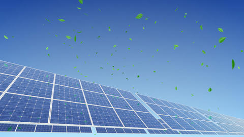 Solar Panel A2G1 HD Stock Video Footage