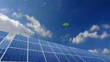 Solar Panel B2CG HD stock footage