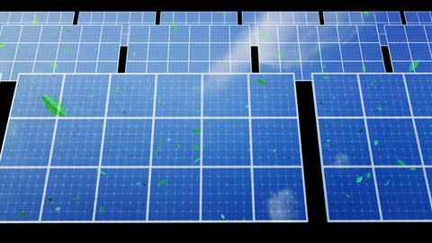 Solar Panel D2CG HD Stock Video Footage