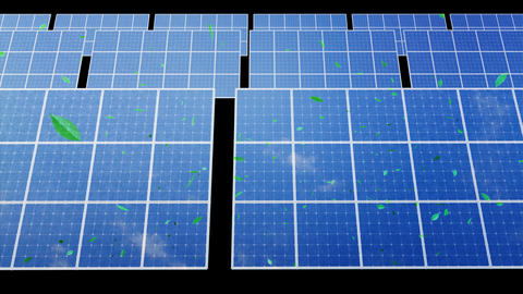 Solar Panel D2CG HD Stock Video Footage