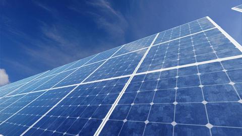 Solar Panel F2C HD Stock Video Footage