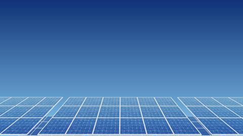 Solar Panel H2B HD Stock Video Footage