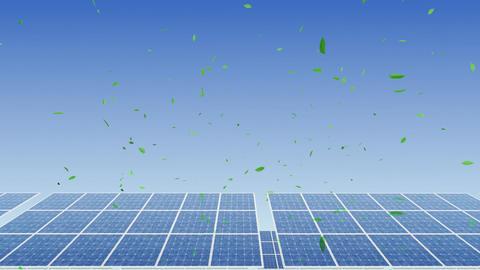 Solar Panel H2G HD Stock Video Footage