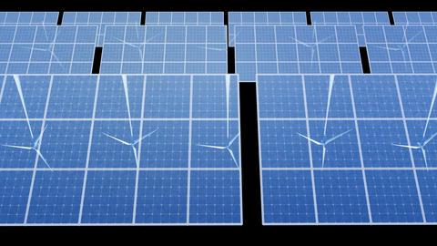 Solar Panel Wind Turbine D2W HD Stock Video Footage