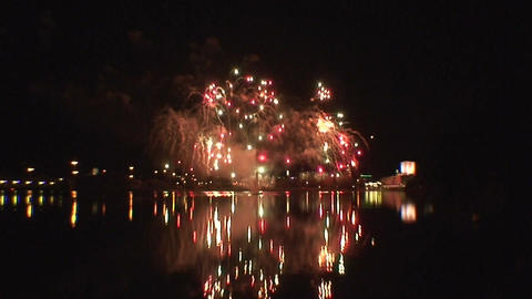 Fireworks show a5 Stock Video Footage