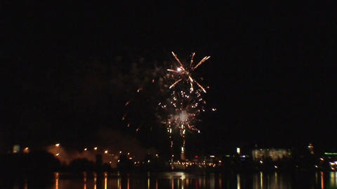 Fireworks show b2 Stock Video Footage