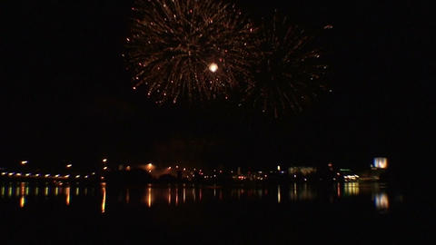 Fireworks show b4 Stock Video Footage