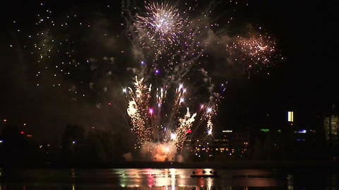 Fireworks show b6 Stock Video Footage