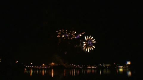 Fireworks show 2 Stock Video Footage