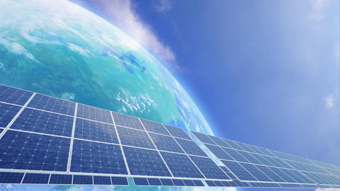 Solar Panel Earth A3C HD Animation
