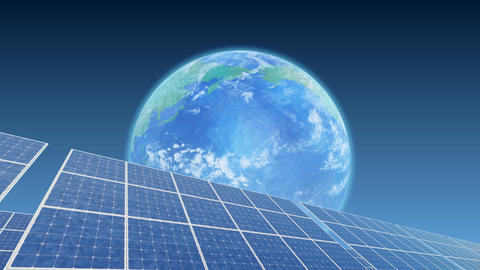 Solar Panel Earth B3B HD Stock Video Footage