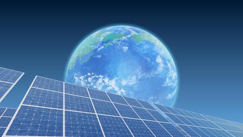 Solar Panel Earth B3B HD Stock Video Footage