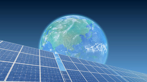Solar Panel Earth B3B HD Animation
