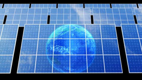 Solar Panel Earth D3B HD Stock Video Footage